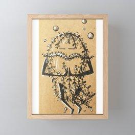 Namaste Seaweed Framed Mini Art Print