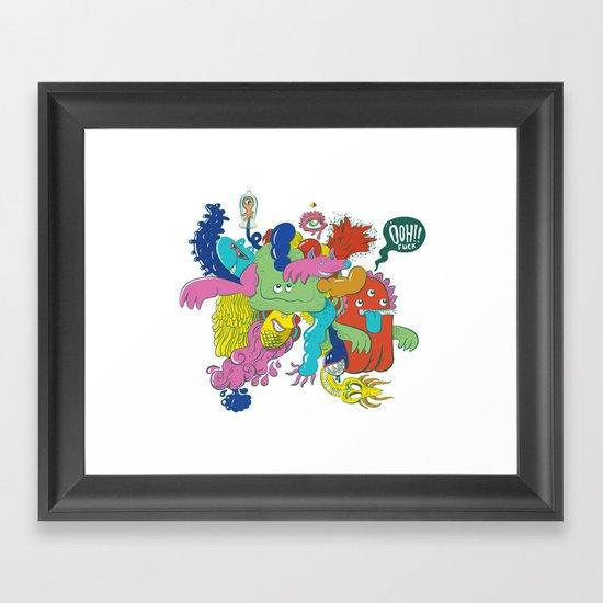 Ooh!! fuck Framed Art Print