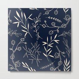 Japanese Floral Metal Print