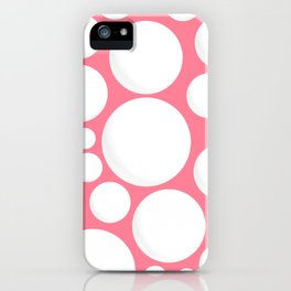 White Dots iPhone Case