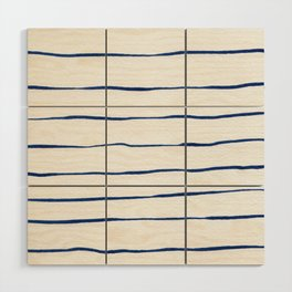 Blue Stripes Wood Wall Art