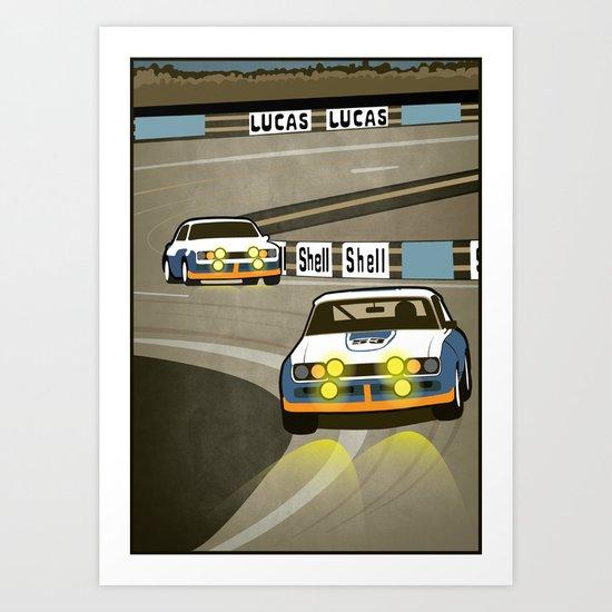 Capri at Le Mans Art Print