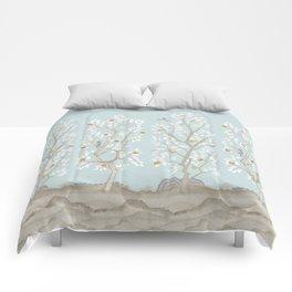 Citrus Grove Mural in Mist Comforters