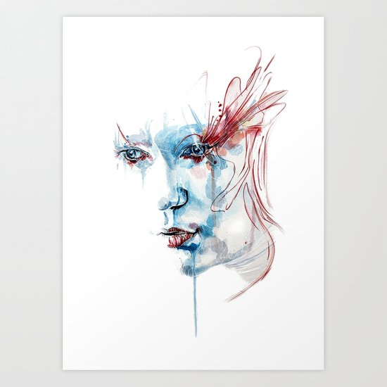 Indelible scars Art Print