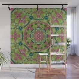 one islet one lotus one  vintage mandala Wall Mural
