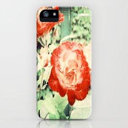 Textured Chicago Peace Rose iPhone Case