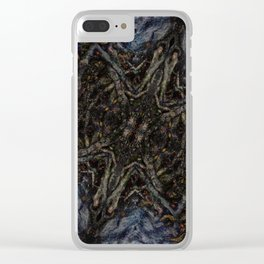 Tree Root Fractal Clear iPhone Case