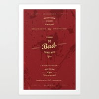 true blood Art Prints featuring True Blood by Mychal Diaz