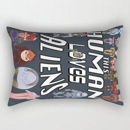 Aliens LOVE Rectangular Pillow