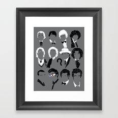 Twelve Doctors Framed Art Print