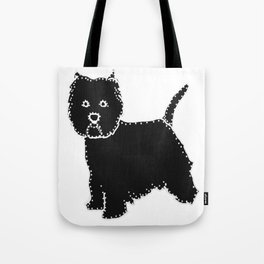 I have Connected the WESTIE Doggy Dots! Tote Bag