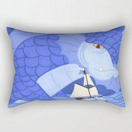 A Friendly Sea Monster Rectangular Pillow
