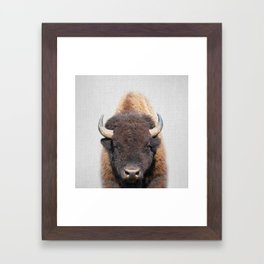 Buffalo - Colorful Framed Art Print