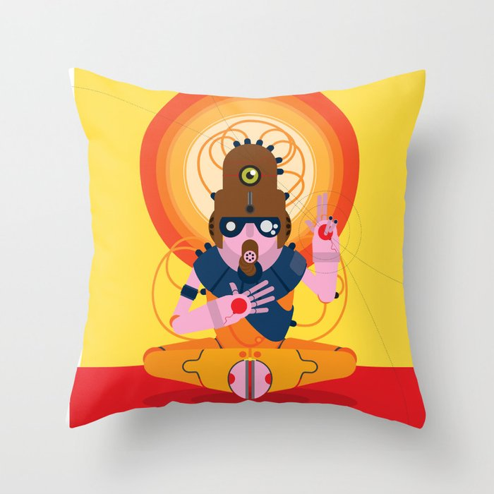 The inscrutable Lord ov Data Throw Pillow