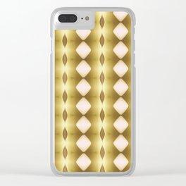 Vertical Diamonds Golden Clear iPhone Case