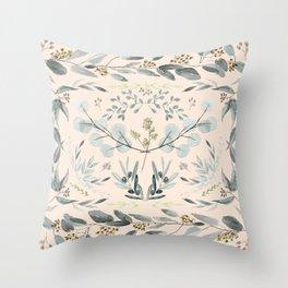 Eucalyptus square Throw Pillow