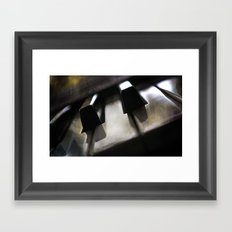 off key. Framed Art Print