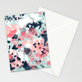 Jilly - modern abstract gender neutral canvas art print large scale abstract painting Stationery Cards