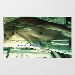 SEXY ART NUDE BLOND LADYKASHMIR Rug