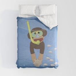 Sock Monkey Snorkeling Comforters
