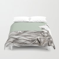 beard Duvet Covers featuring Beard  by Centprent