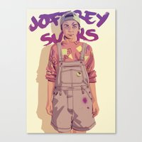 90s Canvas Prints featuring 80/90s - A. by Mike Wrobel