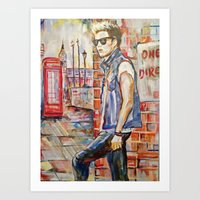 niall Art Prints featuring Niall by Iván Gabela