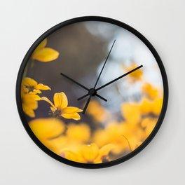 Dreaming in yellow Wall Clock