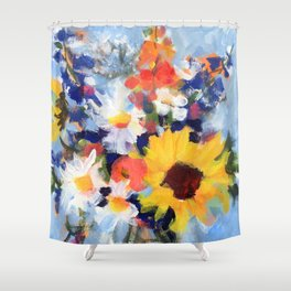 Sunny Day Bouquet Shower Curtain