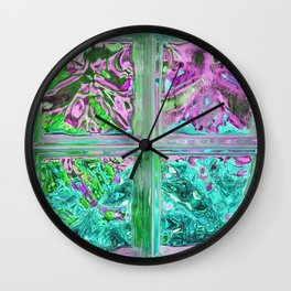 505 - Abstract Glass Design Wall Clock