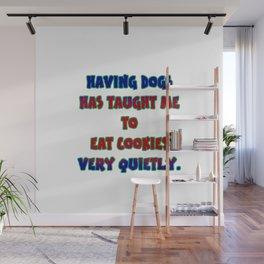 "Funny ""Dog and Cookies"" Joke Wall Mural"