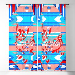 red dog ecopop Blackout Curtain