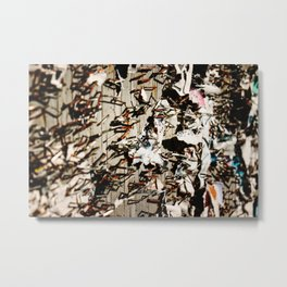Stapled To Death Metal Print