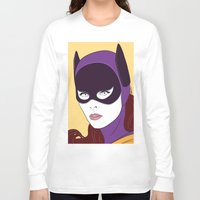 60s Long Sleeve T-shirts featuring 60s Batgirl by Patrick Scullin