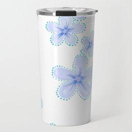 Lily (Blue) Travel Mug