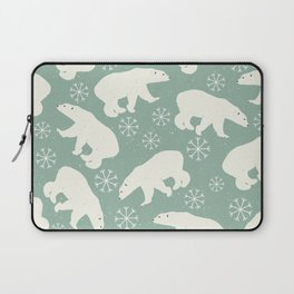 Polar Bears and Snowflakes Laptop Sleeve
