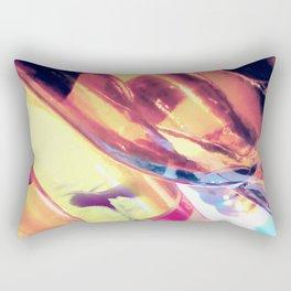 Abstract Art from Macro Photography, Glass Manipulation Rectangular Pillow