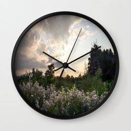 August Sunset Wall Clock