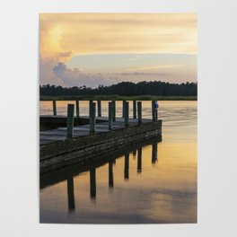 Sunset at the Denbigh Boat Ramp II Poster