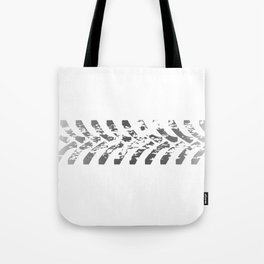Tractor Tyre Marks Tote Bag