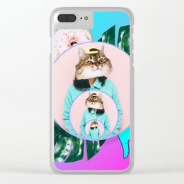 neon collage Clear iPhone Case