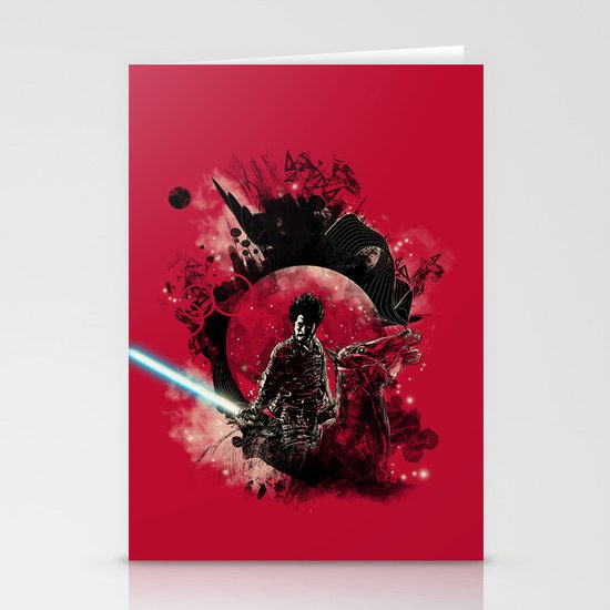 bad side of the samurai Stationery Cards