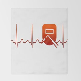 WELDER HEARTBEAT Throw Blanket