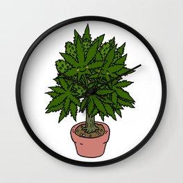 Blushing Cannabis Wall Clock