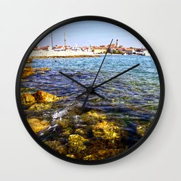 Clearwater at the coast from Croatia  Wall Clock