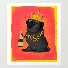 Pugz Life Art Print