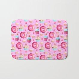Pinky Candy Shop Pattern Bath Mat