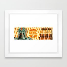 Crude Soda for Robots Framed Art Print