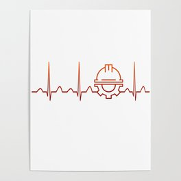 Engineer Heartbeat Poster