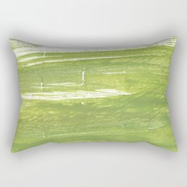 Moss green abstract watercolor Rectangular Pillow